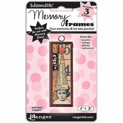Ranger Inkssentials Memory frames 1x3 antique copper 3 pcs