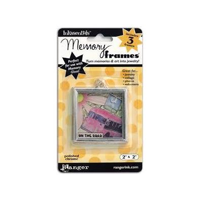 Ranger Inkssentials Memory frames 2x2 polished chrome 3 pcs
