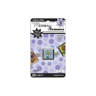 Ranger Inkssentials Memory frames 1x1 polished chrome 3 pcs