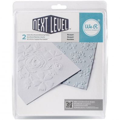 We R memorykeepers Next Level Embossing folders - Bouquet