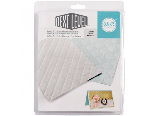 We R memorykeepers Next Level Embossing folders - Quilted