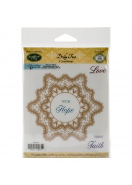 JustRite Cling Stamps - Doily Two