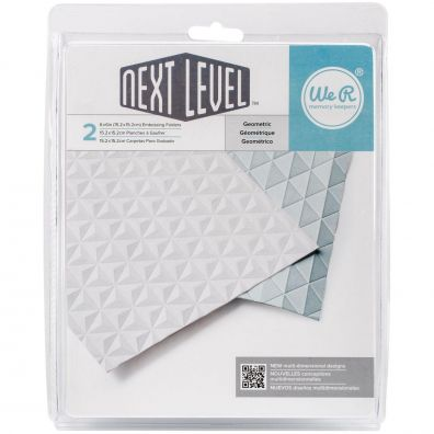 We R memorykeepers Next Level Embossing folders - Geometric