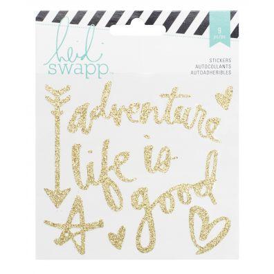Heidi Swapp Memory Planner Gold Glitter Stickers