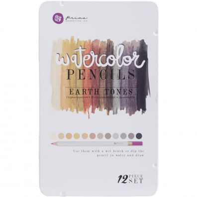 Prima Watercolor Pencils - Earth Tones