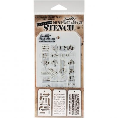 Tim Holtz Mini Stencil Set 15