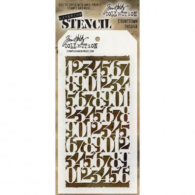 Tim Holtz Stencil/ Mask - Countdown