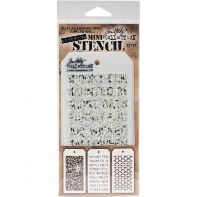 Tim Holtz Mini Stencil Set 17