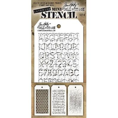 Tim Holtz Mini Stencil Set 8
