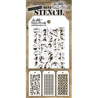 Tim Holtz Mini Stencil Set 7