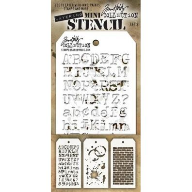 Tim Holtz Mini Stencil Set 3