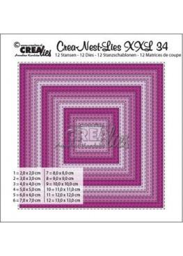 Crealies Dies - Dobbelt Stiplet Kvadrat Crea-Nest-Lies XXL