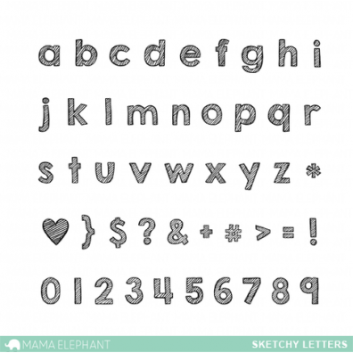 Mama Elephant Clear Stamps – Sketchy Letters