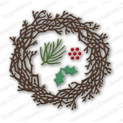 Impression Obsession Die – Twig Wreath