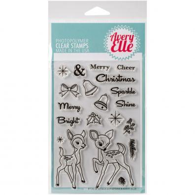Avery Elle Kitsch Christmas Clear Stempler