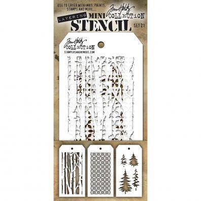Tim Holtz Mini Stencil Set 21