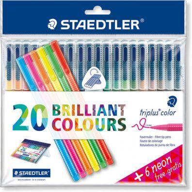 Staedtler Triplus Color tusser 20+6 stk.