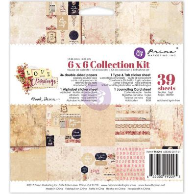 """Prima Collection Kit 6""""X6""""- Love Clippings"""
