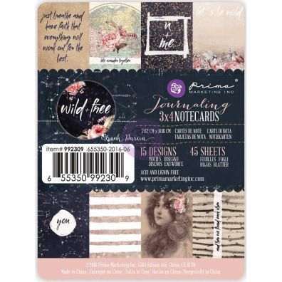 "Prima 3""x4"" Journaling Notecards - Wild & Free"
