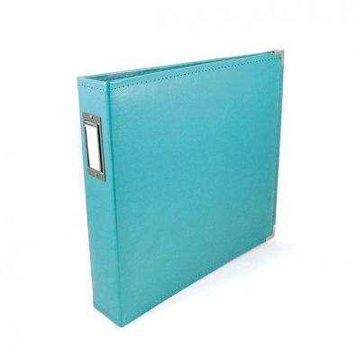 We R Memorykeepers Classic Leather Album 12x12 - Aqua