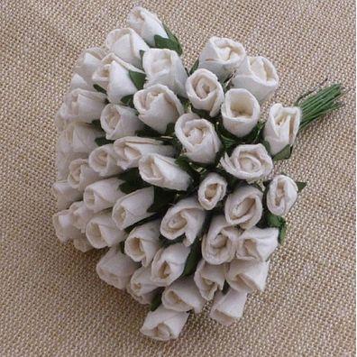 Mulberry Rosebuds White