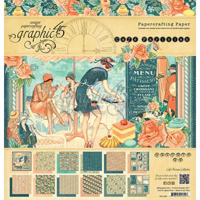 Graphic 45 Café Parisian 12x12 Paperpad