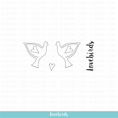 Krumspring clear stamp - Lovebirds