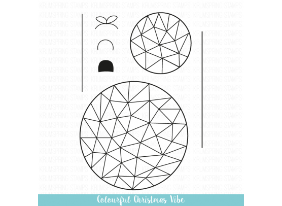 Krumspring clear stamp - Colourful Triangle vibe