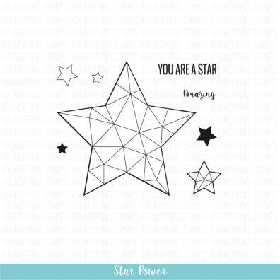Krumspring clear stamp - Star power