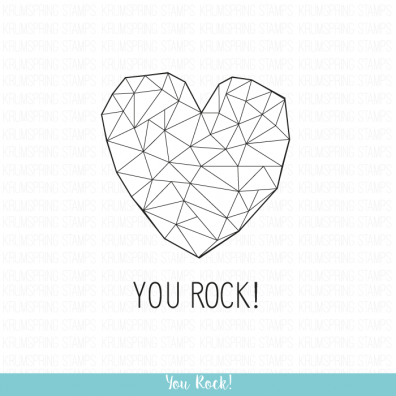 Krumspring clear stamp - You rock!