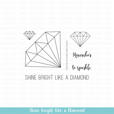 Krumspring clear stamp - Shine Brighton like a diamond