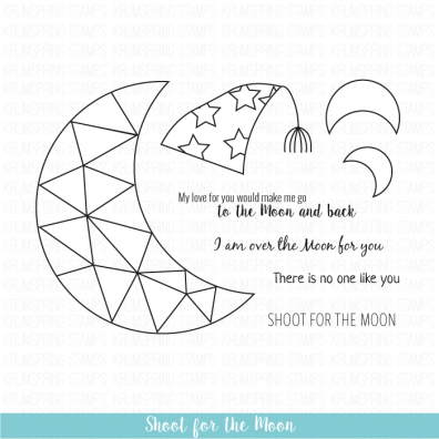 Krumspring clear stamp - Shoot for the moon