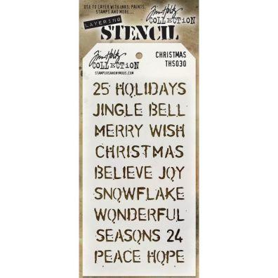 Tim Holtz Mask/ Stencil - Christmas Words