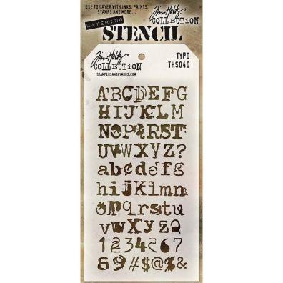 Tim Holtz Mask / Stencil - Typo
