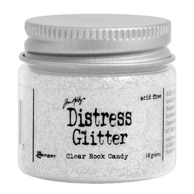 Distressed Glitter - Clear Rock Candy
