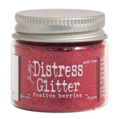 Distressed Glitter - Festive Berries