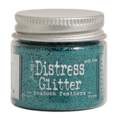 Distressed Glitter - Peacock Feathers