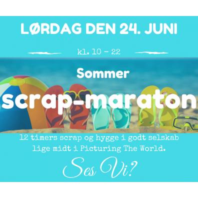 Sommer Scrap-Maraton d. 24/6 kl. 10-22