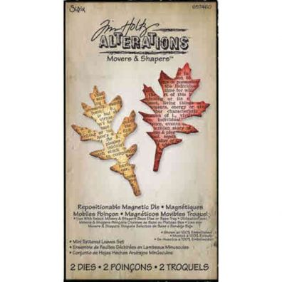 Tim Holtz Movers & Shapers Die Mini Tattered Leaves Set