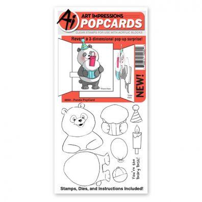 Art Impressions - Panda PopCard