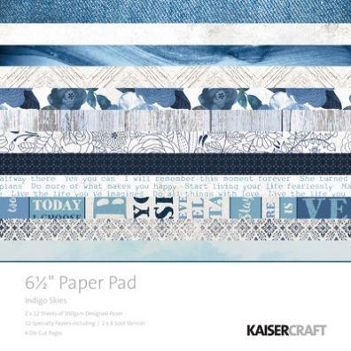 "KaiserCraft - Indigo Skies Collection 6,5""x6,5"" Paper Pad"