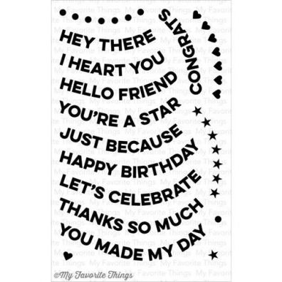My Favorite Things Clear Stamp - Wavy Greetings