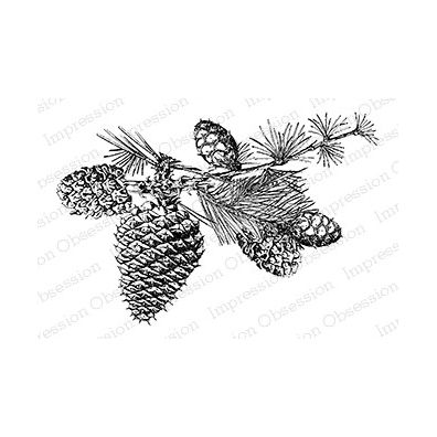 Impression Obsession Cling Stempel - Pine Branch