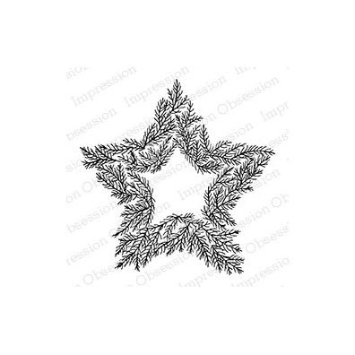 Impression Obsession Cling Stempel - Pine Star Wreath