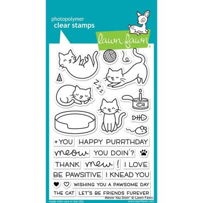 MEOW YOU  -LAWN FAWN CLR STAMP