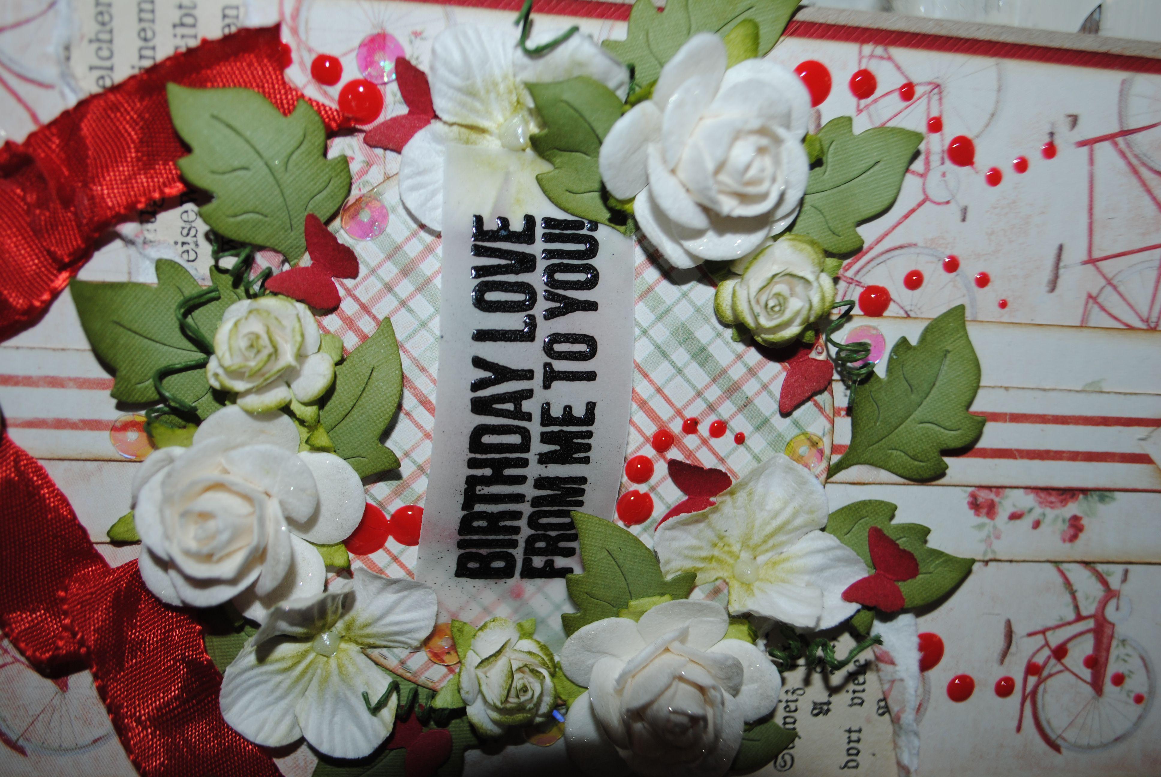 Romantisk sommer fødselsdags kort.