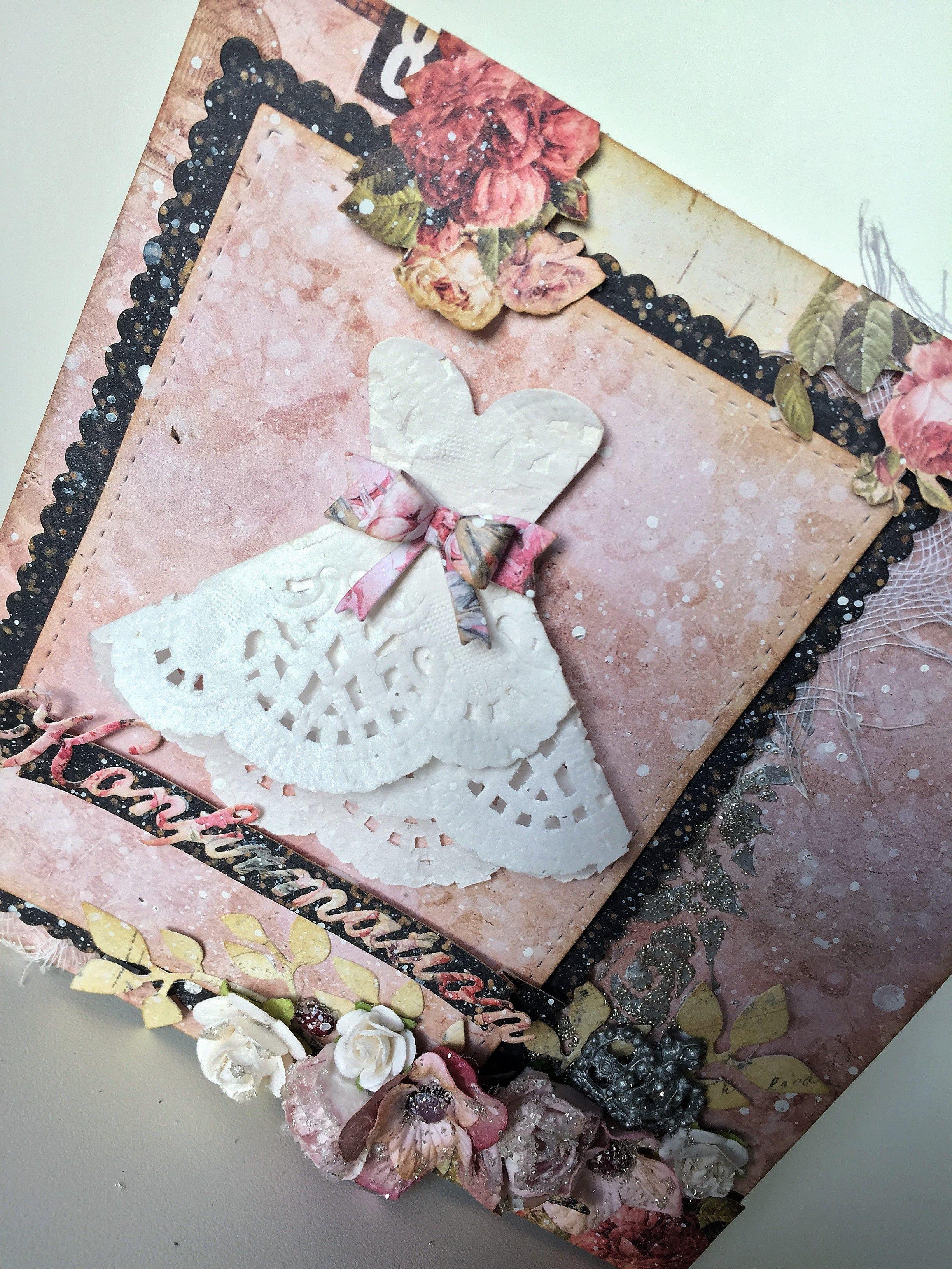 Romantisk konfirmationskort