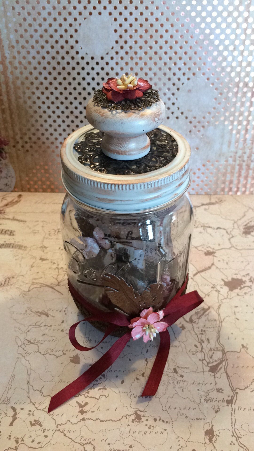 Mini album i mason jar