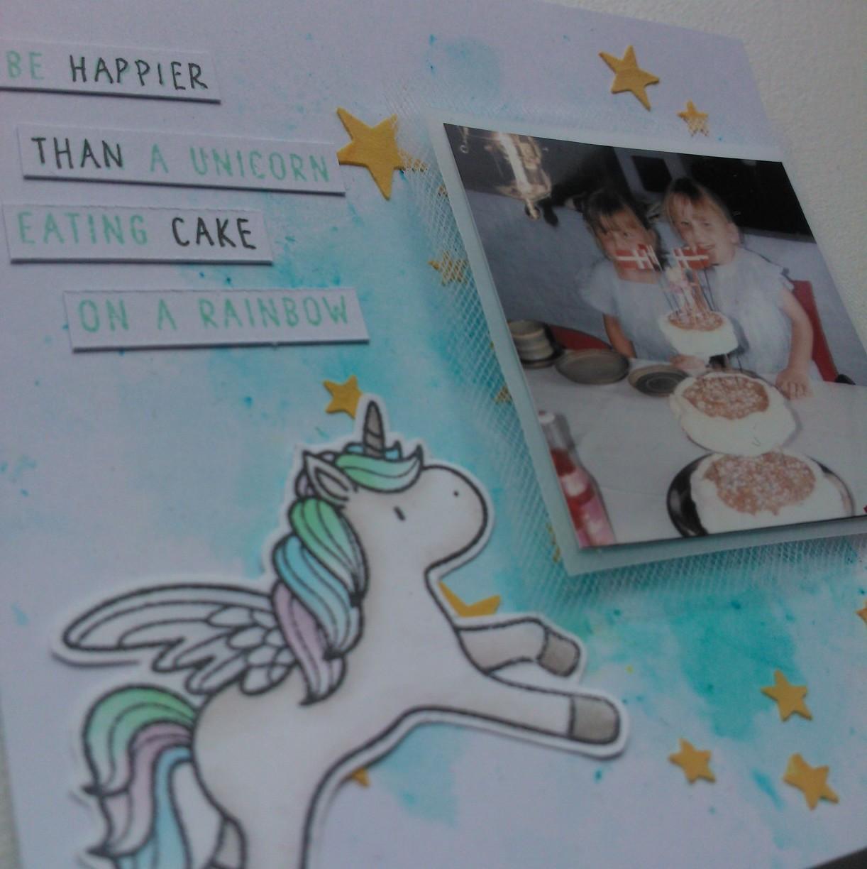 Mini unicorn layout og  august kit kig