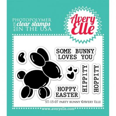 Avery Elle Party Bunny Clear stamps